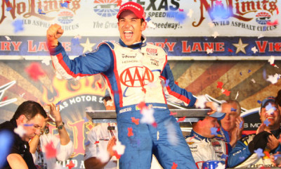 06-08-Castroneves-Celebrates-Win-At-Texas-Std